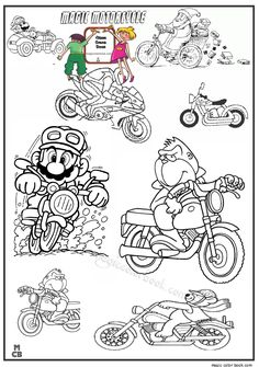 Pin By Magic Color Book On Motorcycle Coloring Pages Free