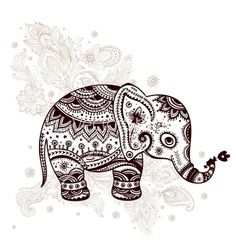 Illustration about Ethnic elephant illustration can be used as a greeting card. Illustration of mandala, frame, native - 34488428 Elephant Love, Elephant Art, Elephant Tattoos, Henna Elephant, Mandala Elephant Tattoo, Zentangle Elephant, Elefante Tattoo, Dotwork Tattoo Mandala, Elefante Hindu