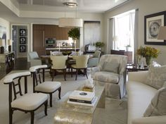 Open Concept Formal Living And Dining Rooms