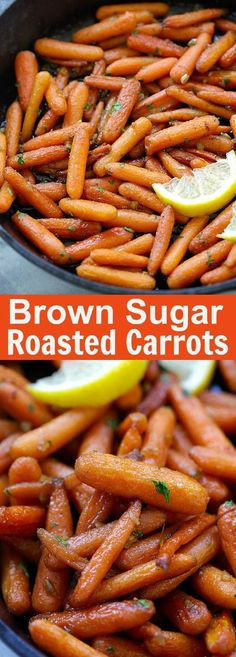 Brown Sugar Roasted Carrots – the sweetest, most tender and buttery roasted carrots recipe ever! Five ingredients and 10 mins active time | http://rasamalaysia.com