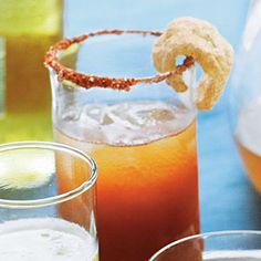There's no better way to start off Brunch then with a Barbecue Bloody Mary, garnished with a Pork Rind