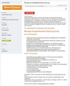 SportScheck sucht einen Manager Budgetallokation! #sportscheck #sportjob #sportyjob