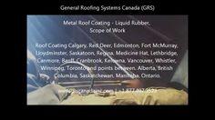 Metal Roof Coatings / Liquid Rubber - Video Showing Scope of Work.  Metal Roof Coatings Edmonton, Calgary, Red Deer, Fort McMurray, Lloydminster, Saskatoon, Regina, Medicine Hat, Lethbridge, Canmore, Banff, Cranbrook, Kelowna, Vancouver, Whistler, Winnipeg, Toronto and points between. Alberta, British Columbia, Saskatchewan, Manitoba, Ontario.  #MetalRoofCoatings   #MetalRoof   #LiquidRubber