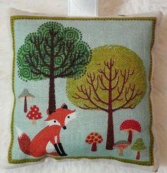 Fox Christmas Gift / Fox Fabric Lavender Bag / Woodland Wildlife Gift - Handmade