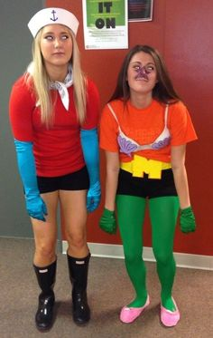 My friends went as Mermaid Man and Barnacle Boy for Halloween. This is perfect the  sc 1 st  Pinterest & DIY Mermaid Man and Barnacle Boy Halloween costume 2015 for friends ...