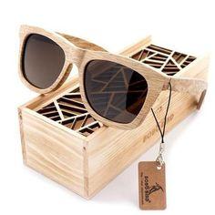 b645ad754b Bobo Bird G07 Fashion Polarized Square Wood Bamboo Sunglasses for Men  Woodies Sunglasses