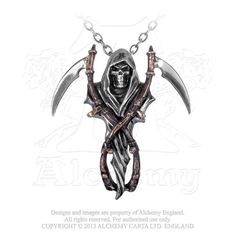 www.rockngoth.com - P296 - The Reapers Arms Pendant, $39.95 (http://www.rockngoth.com/p296-the-reapers-arms-pendant/)