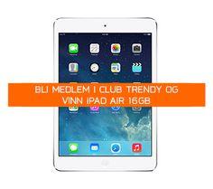 Ønsker du å vinne iPad Air? Ipad Air, Club, Phone, Prize Draw, February, Telephone, Mobile Phones