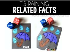 Weather Unit - Fact Family/Related Facts Craftivity for Kindergarten & First Grade - Free Download