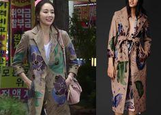 "Choi Ji-Woo 최지우 in ""Temptation"" Episode 11.  Burberry Hand-Painted Nubuck Trench Coat #Kdrama #Temptation 유혹 #ChoiJiWoo"