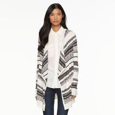 Women's AB Studio Striped Long Cardigan, Size: