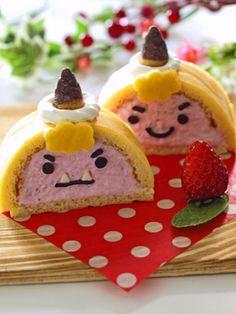 Goblin strawberry roll cake
