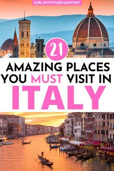21 Astounding, Must See Places in Italy! - Girl With The Passport 21 Astounding, Must See Places in Italy! - Girl With The Passport,Italy Travel Tips 21 Astounding, Must See Places in Italy! - Girl With The Passport aesthetic travel italy inspo places Italy Destinations, Holiday Destinations, Cities In Italy, Places In Italy, Beautiful Places To Travel, Cool Places To Visit, Italy Travel Tips, Travel Europe, Travel Guide
