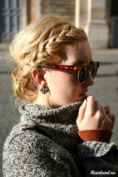 Hairstyles with braids on medium hair photo