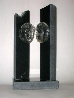 """Skulptur Glas/Stein """"das Gespräch"""" Bookends, Objects, Glass, Home Decor, Art, Sculptures, Stones, Homemade Home Decor, Craft Art"""