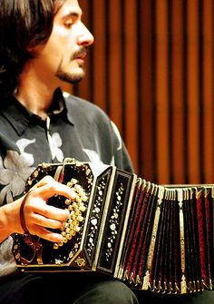 Bandoneon player at Indiana University Bloomington campus.