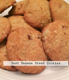 These Banana Bread cookies are so tasty - like mini banana breads! You will love them!