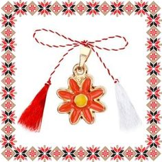 Martisor Pandantiv Floare Portocalie Tassel Necklace, Tassels, Jewelry, Jewlery, Jewerly, Schmuck, Jewels, Tassel, Jewelery