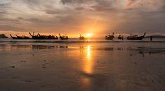Sunset at Railay Beach, Thailand by Kévin André - Photo 130019429 - 500px