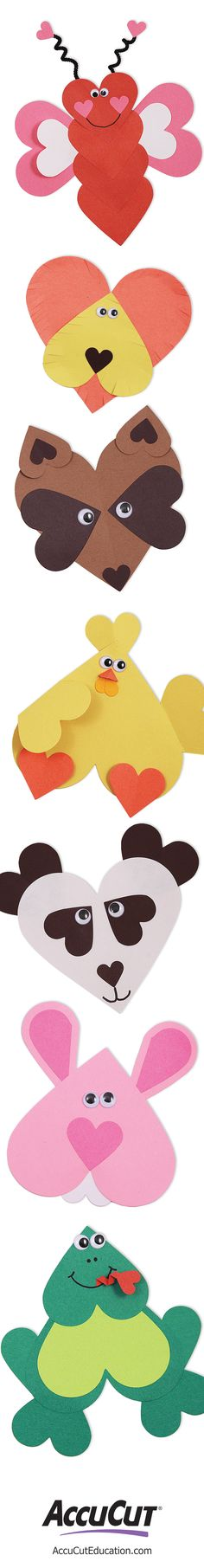 Use this two-die heart set for a wide range of crafting projects. Great for Valentine's Day and general heart-themed crafts, but can also be used to create a variety of animals.