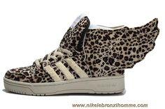 Adidas X Jeremy Scott Wings 2.0 Leopard Chaussures En Ligne