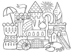 Free Adult Colouring Page by Thaneeya