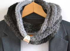 Crochet infinity scarf-necklace