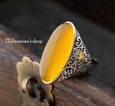 Material: 925 sterling silver, natural Yellow carneol Size: 27 * Weight about: Suitable for: 6 # # # # # # # # Mens Gemstone Rings, Mens Silver Rings, Sterling Silver Jewelry, Gold Rings, Silver Earrings, Silver Necklaces, Men's Jewelry Rings, Gold Jewellery, Silver Ring Designs