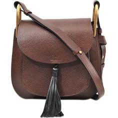 Chloé Hudson Small Shoulder bag (€1.760) ❤ liked on Polyvore featuring bags, handbags, shoulder bags, brown, flap crossbody bag, chloe shoulder bag, chloe purses, brown cross body handbags and flap bag
