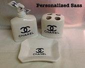 Chanel BathRoom Set. $22.00, via Etsy.