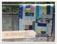 durbanville.design: try it tuesdays #3 - log cabin quilting tutorial  Quilt aus Stoffresten