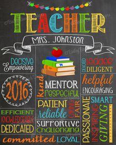 Teacher Appreciation End of year Gift, TEACHER0520