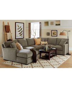 driscoll fabric sectional sofa living room furniture collection rh pinterest com