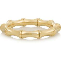 Gucci 18-karat gold bamboo bracelet, Women's ($6,800) ❤ liked on Polyvore featuring jewelry, bracelets, 18 karat gold jewelry, gucci bracelet, bamboo jewelry, bamboo bangles and bamboo bracelet