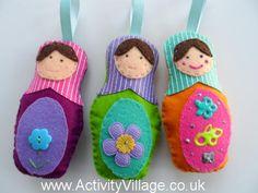 Felt Matryoshka Dolls: Winter Olympics Crafts for Kids. #StayCurious