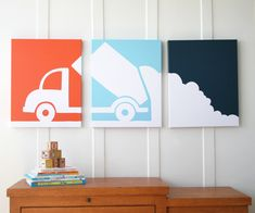 Image of Dump Truck Stretched Canvas Artwork
