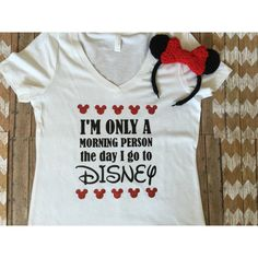 I Am Only a Morning Person the Day I Go to Disney Shirt Disney Tank... (€19) ❤ liked on Polyvore featuring tops, grey, women's clothing, gray tank top, reversible tank, unisex tank tops, glitter top and grey shirt