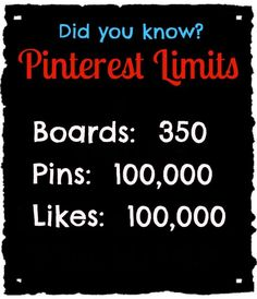 Pinterest has limits did you know ? - um Challenge accepted // Lol Challenge accepted.