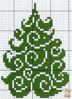 GREEN CHRISTMAS TREE CROSS STITCH