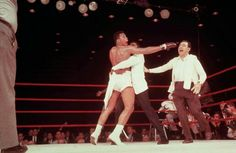 Muhammad Ali (then known as Cassius Clay) realises, Charles 'sonny' Liston cannot answer the bell for the next round and he is now the new heavyweight champion of the world.... Miami 1964..