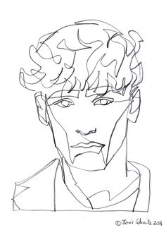Kiss 51 continuous line drawing by boris schmitz for Art of minimal boris