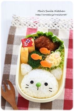 Kitty cat bento! When I have kids I'd love to make this stuff for then