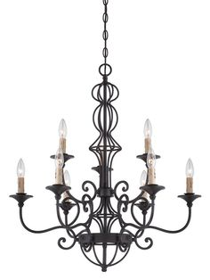 View the Designers Fountain 85589 Tangier 7 Light 2 Tier Candle Style Chandelier at LightingDirect.com.