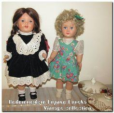 2 υπέροχες παλιές κούκλες.