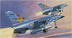 Dassault Mirage F.1C (Koike Shigeo) Hobby Kits, Airplane Art, Air Planes, Military Jets, Aviation Art, Illustrations And Posters, Cold War, Box Art, Painting & Drawing