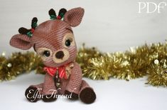 Elfin Thread- Ritva, the Christmas Reindeer PDF Amigurumi Pattern (Reinder Crochet Pattern) by ElfinThread on Etsy