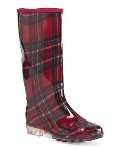 Plaid Jelly Rain Boot