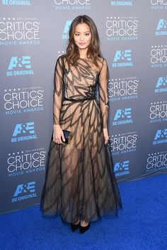 Pin for Later: Die Stars feiern weiter bei den Critics' Choice Movie Awards! Jamie Chung
