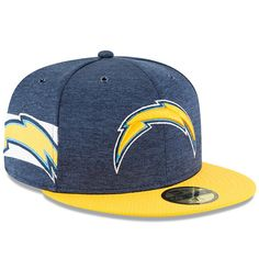 0e24378d96e0e Los Angeles Chargers New Era 2018 NFL Sideline Home Official 59FIFTY Fitted  Hat – Navy Gold. Professional Football TeamsMens ...