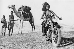 Young Eritrean women on the Triumph Silent Scout B. 1934